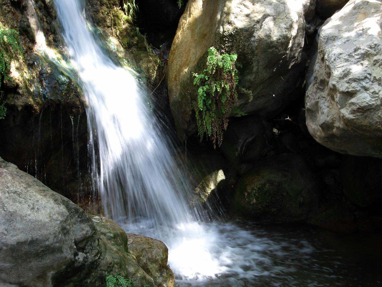 waterfall at Solstice Canyon