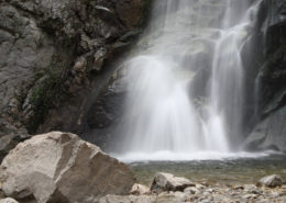 a waterfall in santa anita canyon