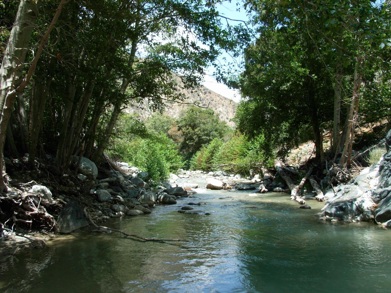 the San Gabriel River on the Bridge to Nowhere