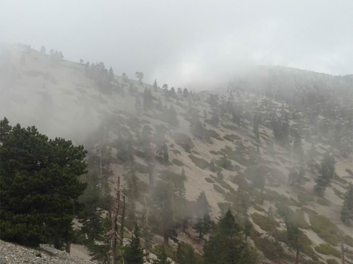 a storm on Mount Baldy