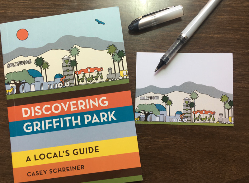 An adhesive bookplate for a signed copy of Discovering Griffith Park