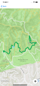 tracked gps location on the modern hiker app