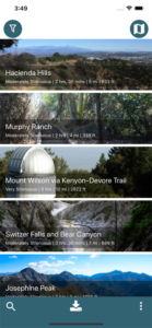 trail information at a glance in the modern hiker app